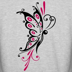 Big filigree butterfly, wings, girlie Tattoo style - Colorblock Hoodie