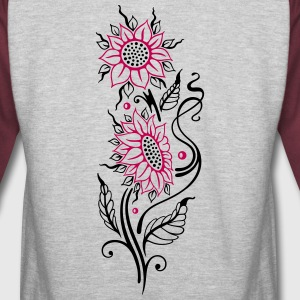 Colorful sunflowers, summer design - Colorblock Hoodie