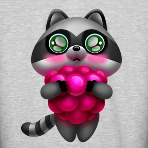 Raccoon with raspberries - Colorblock Hoodie