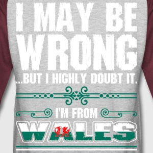 I May Be Wrong Im From Wales - Colorblock Hoodie