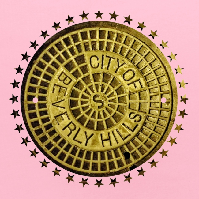 BEVERLY HILLS CALIFORNIA SEWER MANHOLE COVER!