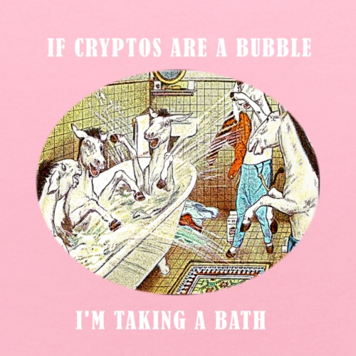 If Cryptos Are a Bubble, I'm Taking a Bath - Baby Bib