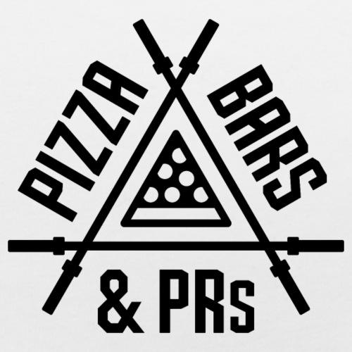 Pizza, Bars and PRs Fitness Triangle v2 - Baby Bib