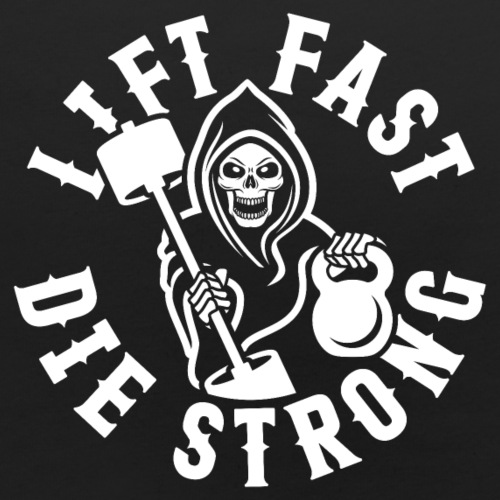 Lift Fast Die Strong - Baby Bib