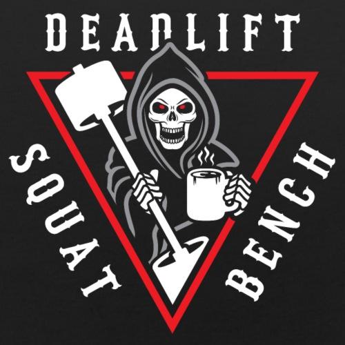 Squat Bench Deadlift Grim Reaper - Baby Bib