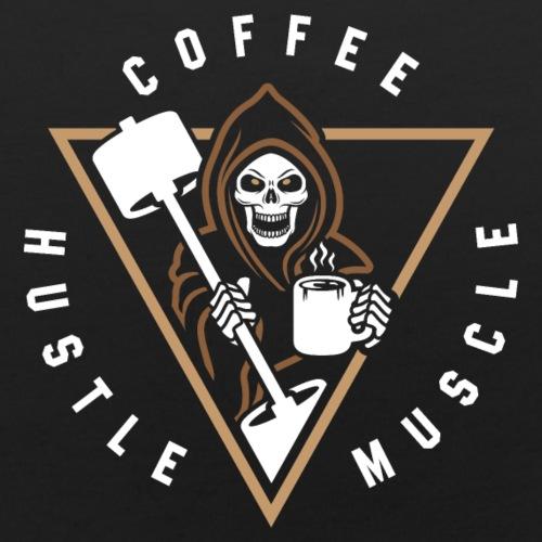 Coffee Hustle Muscle Grim Reaper - Baby Bib