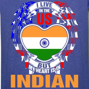 I Live In The Us But My Heart Is In Indian - Vintage Sport T-Shirt