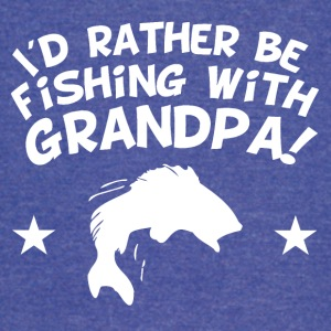 I'd Rather Be Fishing With My Grandpa - Vintage Sport T-Shirt