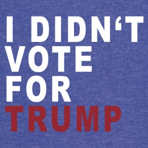 I DIDN'T VOTE - Vintage Sport T-Shirt