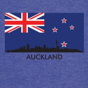 Auckland Skyline New Zealand Flag - Vintage Sport T-Shirt