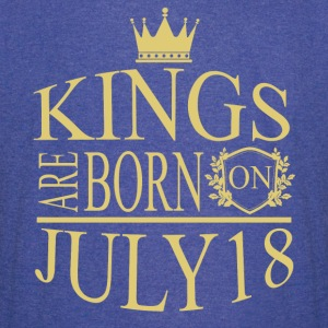 Kings are born on July 18 - Vintage Sport T-Shirt