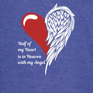 Half Of My Heart Is In Heaven With My Angel - Vintage Sport T-Shirt