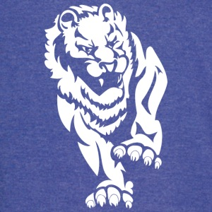 angry_big_lion_white - Vintage Sport T-Shirt