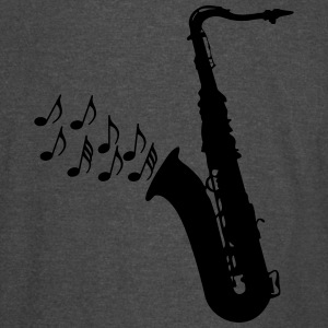 saxophone with notes - Vintage Sport T-Shirt