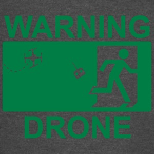 Exit Warning Drone - Vintage Sport T-Shirt