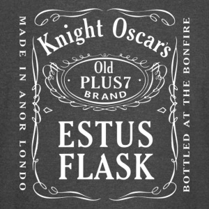 Knight Oscar's Estus Flask Label Design - Vintage Sport T-Shirt