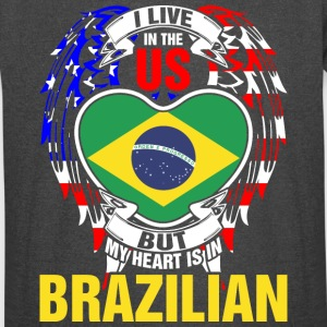I Live In The Us But My Heart Is In Brazilian - Vintage Sport T-Shirt