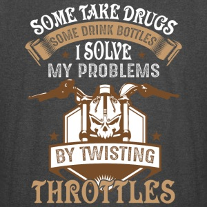 I Solve My Problems By Twisting Throttles T Shirt - Vintage Sport T-Shirt