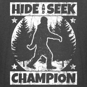 Funny Sasquatch Shirt: Hide and Seek Champion - Vintage Sport T-Shirt