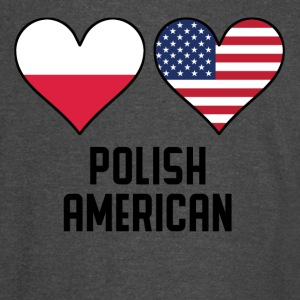 Polish American Heart Flags - Vintage Sport T-Shirt