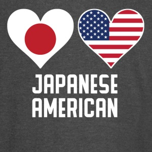 Japanese American Heart Flags - Vintage Sport T-Shirt