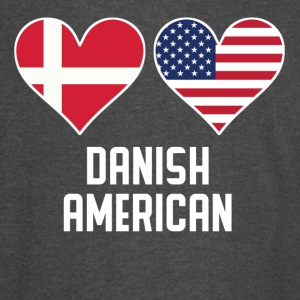 Danish American Heart Flags - Vintage Sport T-Shirt