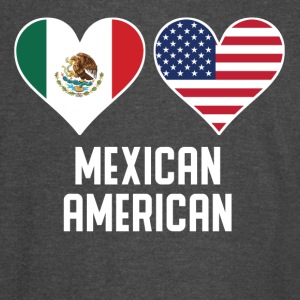 Mexican American Heart Flags - Vintage Sport T-Shirt