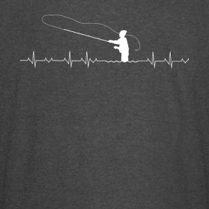Fishing Heartbeat - Vintage Sport T-Shirt