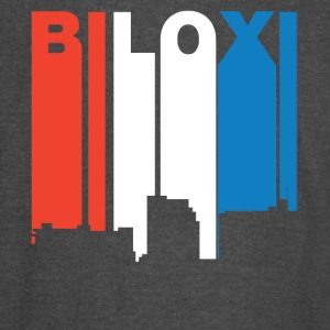 Red White And Blue Biloxi Mississippi Skyline - Vintage Sport T-Shirt