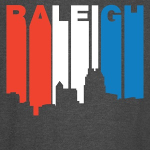 Red White And Blue Raleigh North Carolina Skyline - Vintage Sport T-Shirt