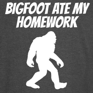 Bigfoot Ate My Homework - Vintage Sport T-Shirt