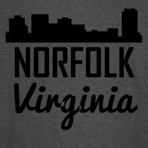Norfolk Virginia Skyline - Vintage Sport T-Shirt
