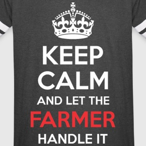 Keep Calm And Let Farmer Handle It - Vintage Sport T-Shirt
