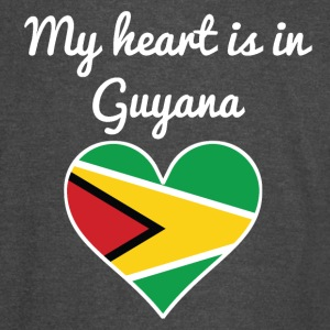 My Heart Is In Guyana - Vintage Sport T-Shirt