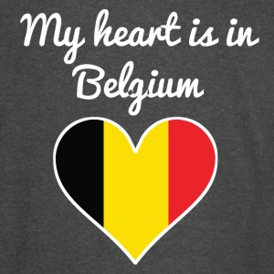 My Heart Is In Belgium - Vintage Sport T-Shirt