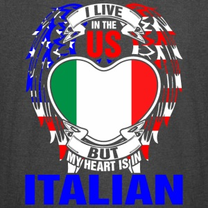 I Live In The Us But My Heart Is In Italian - Vintage Sport T-Shirt
