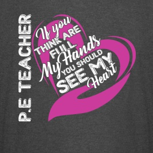 PE Teacher Full Heart Shirt - Vintage Sport T-Shirt