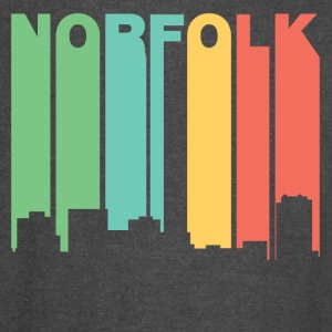 Retro 1970's Style Norfolk Virginia Skyline - Vintage Sport T-Shirt