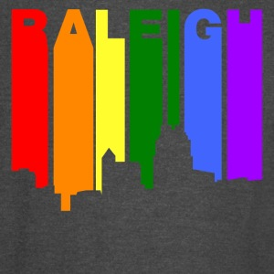 Raleigh North Carolina Gay Pride Rainbow Skyline - Vintage Sport T-Shirt