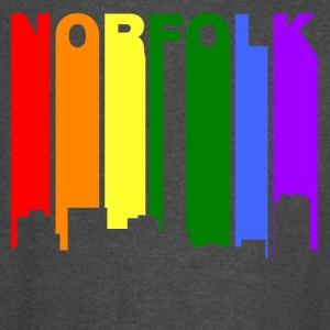 Norfolk Virginia Gay Pride Rainbow Skyline - Vintage Sport T-Shirt