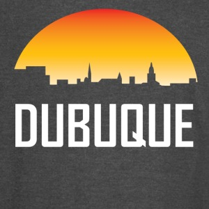 Dubuque Iowa Sunset Skyline - Vintage Sport T-Shirt