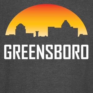 Greensboro North Carolina Sunset Skyline - Vintage Sport T-Shirt