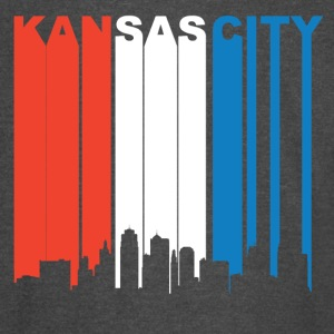 Red White And Blue Kansas City Missouri Skyline - Vintage Sport T-Shirt