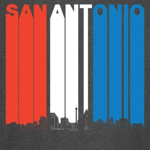 Red White And Blue San Antonio Texas Skyline - Vintage Sport T-Shirt