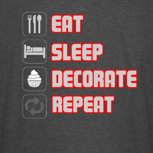 EAT SLEEP DECORATE REPEAT T-shirt - Vintage Sport T-Shirt