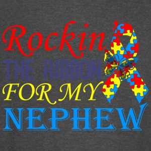 Rockin The Ribbon For My Nephew Awareness - Vintage Sport T-Shirt