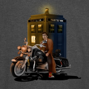 Phone Booth and Big Motorcycle - Vintage Sport T-Shirt