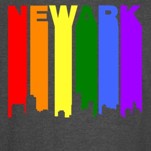 Newark New Jersey Gay Pride Rainbow Skyline - Vintage Sport T-Shirt