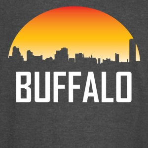 Buffalo New York Sunset Skyline - Vintage Sport T-Shirt