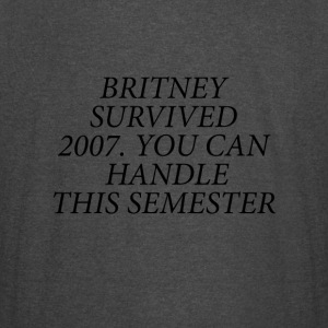 Britney Survived 2007 Black - Vintage Sport T-Shirt